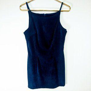 Vintage All That Jazz Blue Velvet Mini Dress 11/12